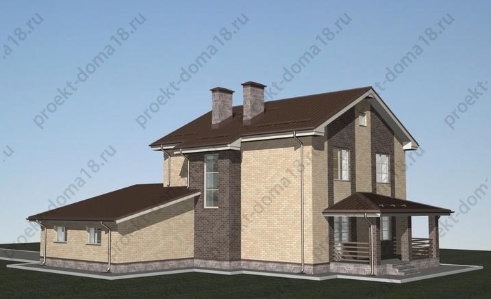 Проект дома с гаражом Л-02-24 фасад