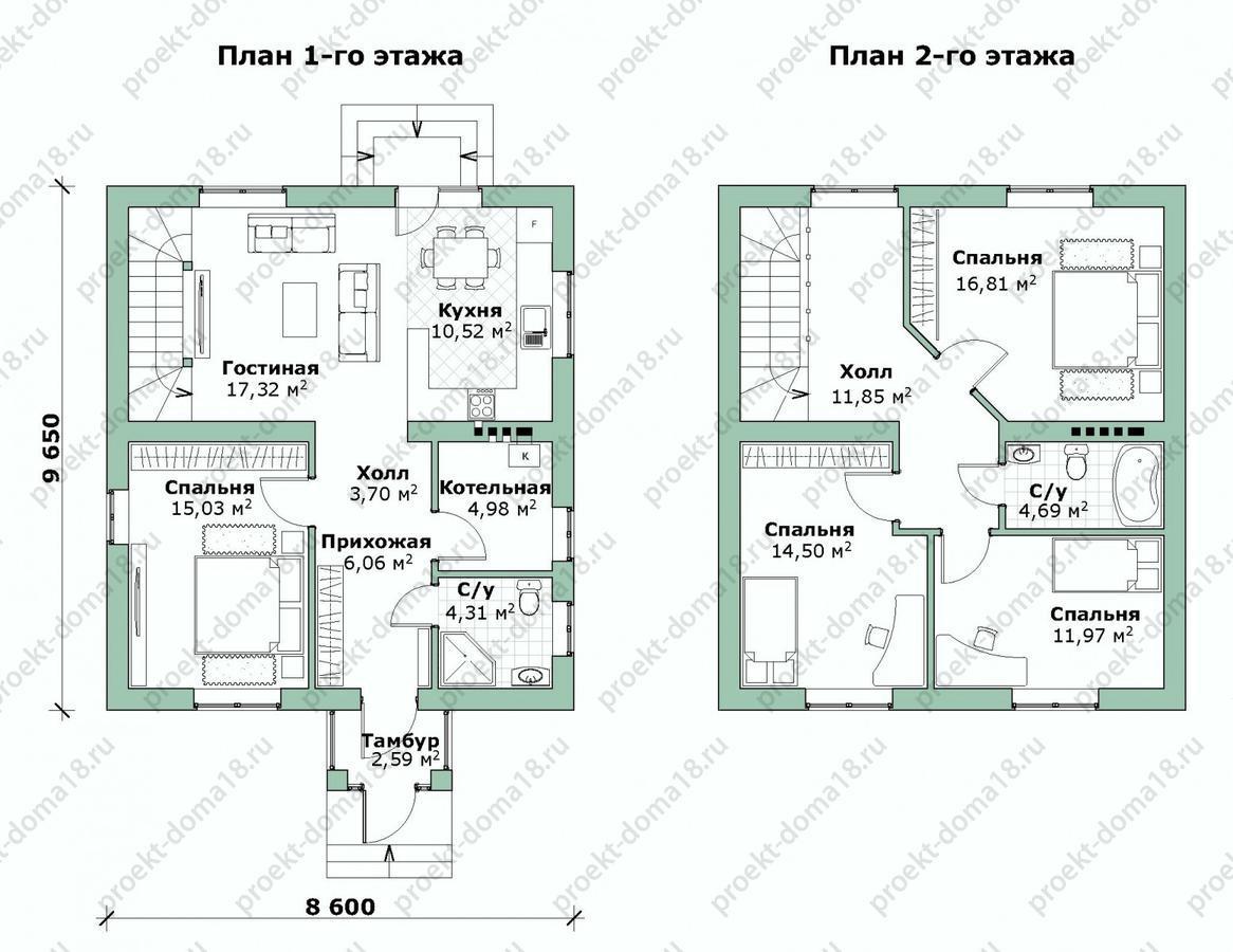Проект жилого дома в г. Севастополь план