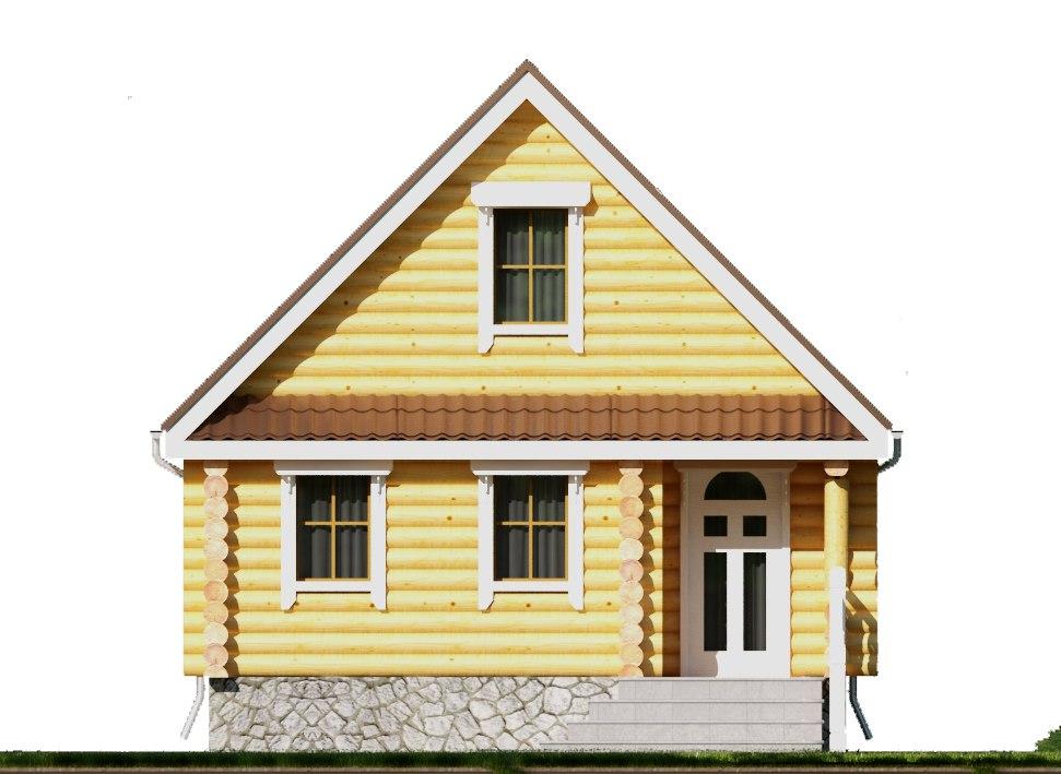 Небольшой загородный дом-баня фасад