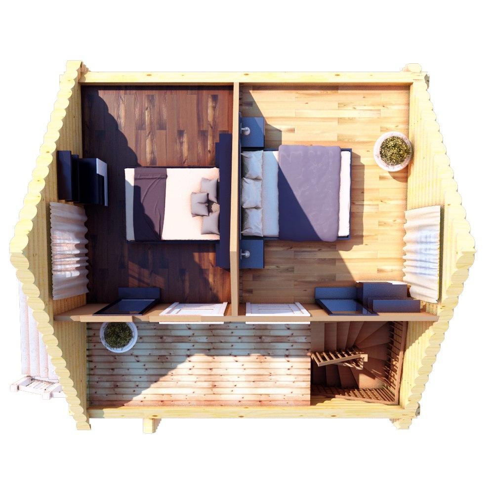 Небольшой загородный дом-баня план