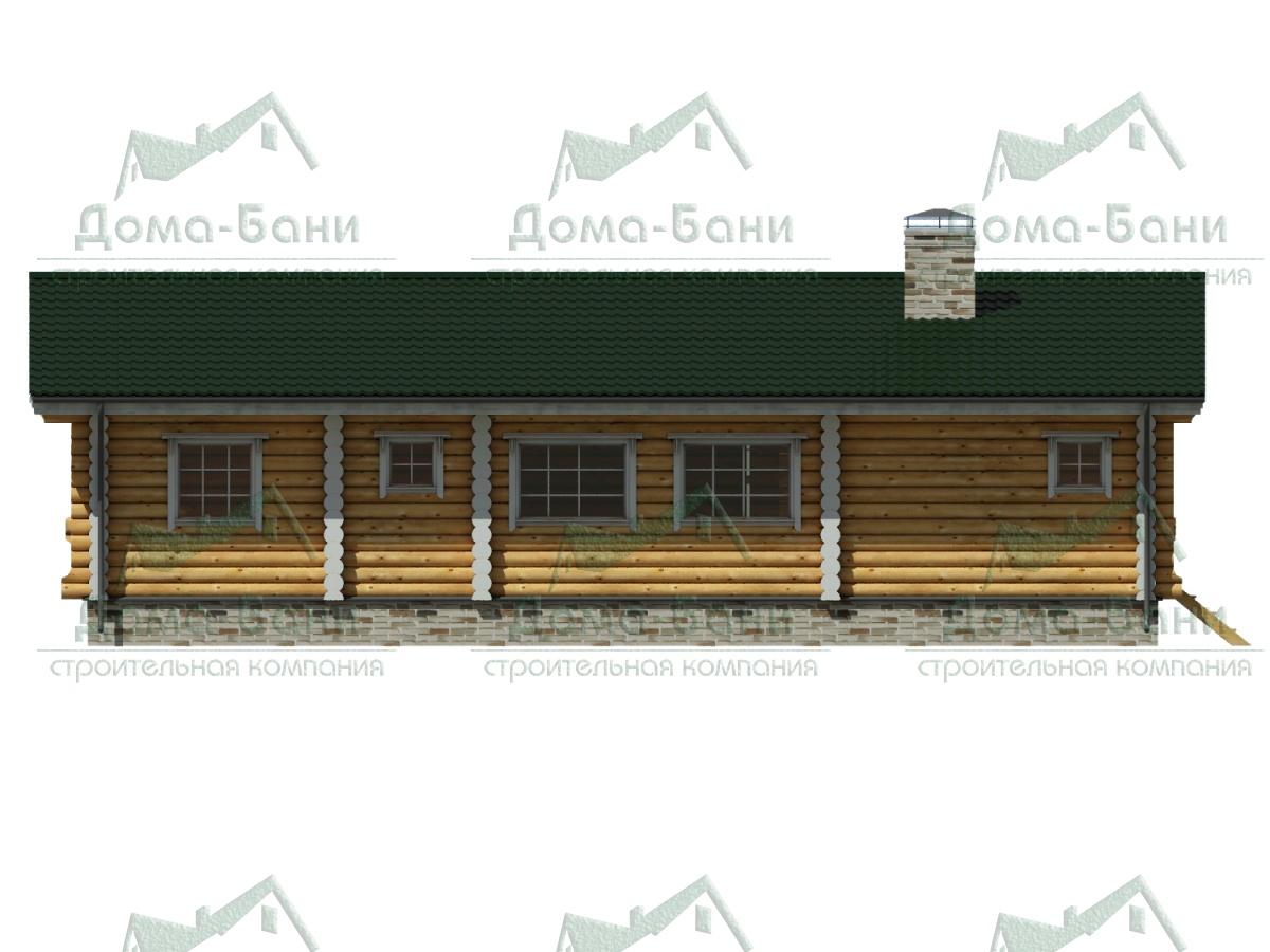 ДОМ-БАНЯ ИЗ БРЕВНА 110 фасад