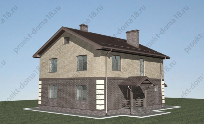 Проект дома 10х12 фасад