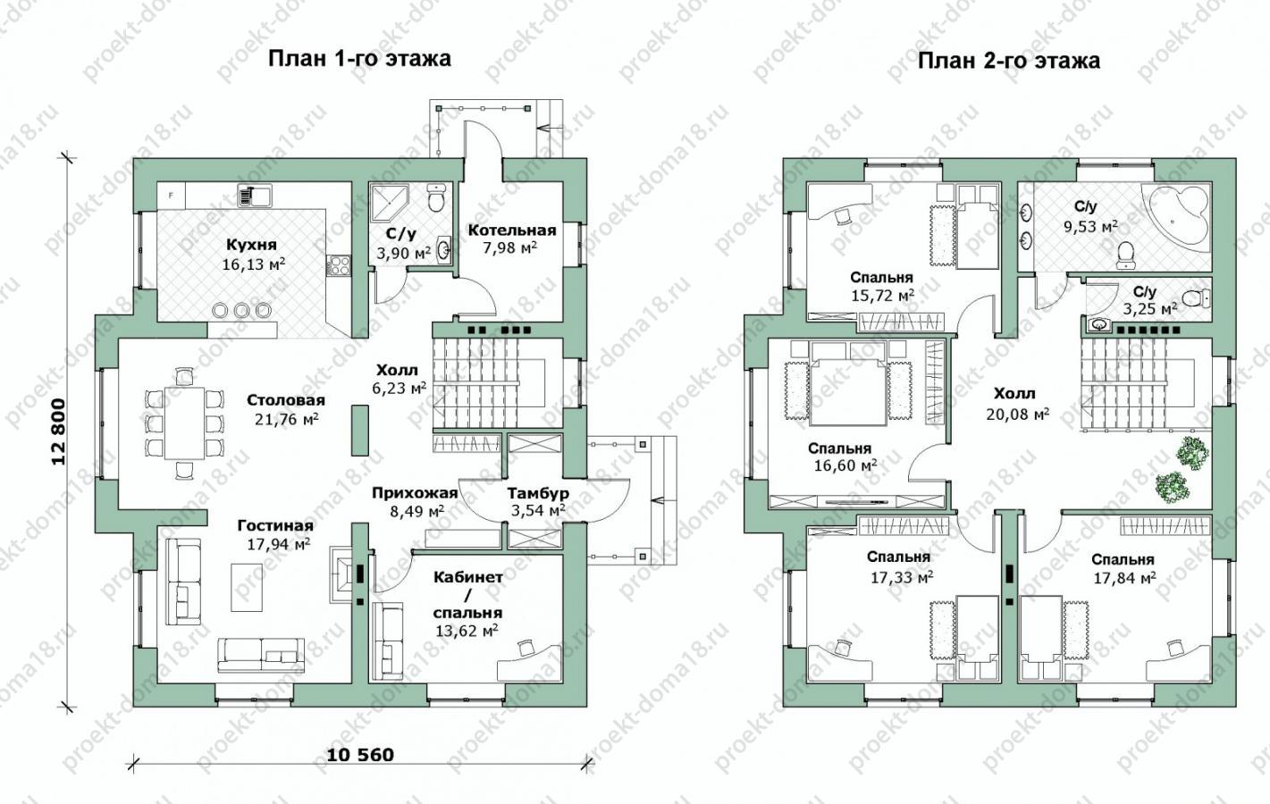 Проект дома 10х12 план