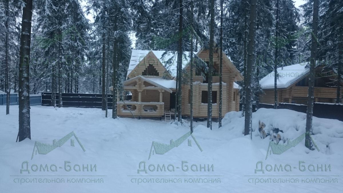 ДОМ-БАНЯ ИЗ БРЕВНА 177.93 фасад