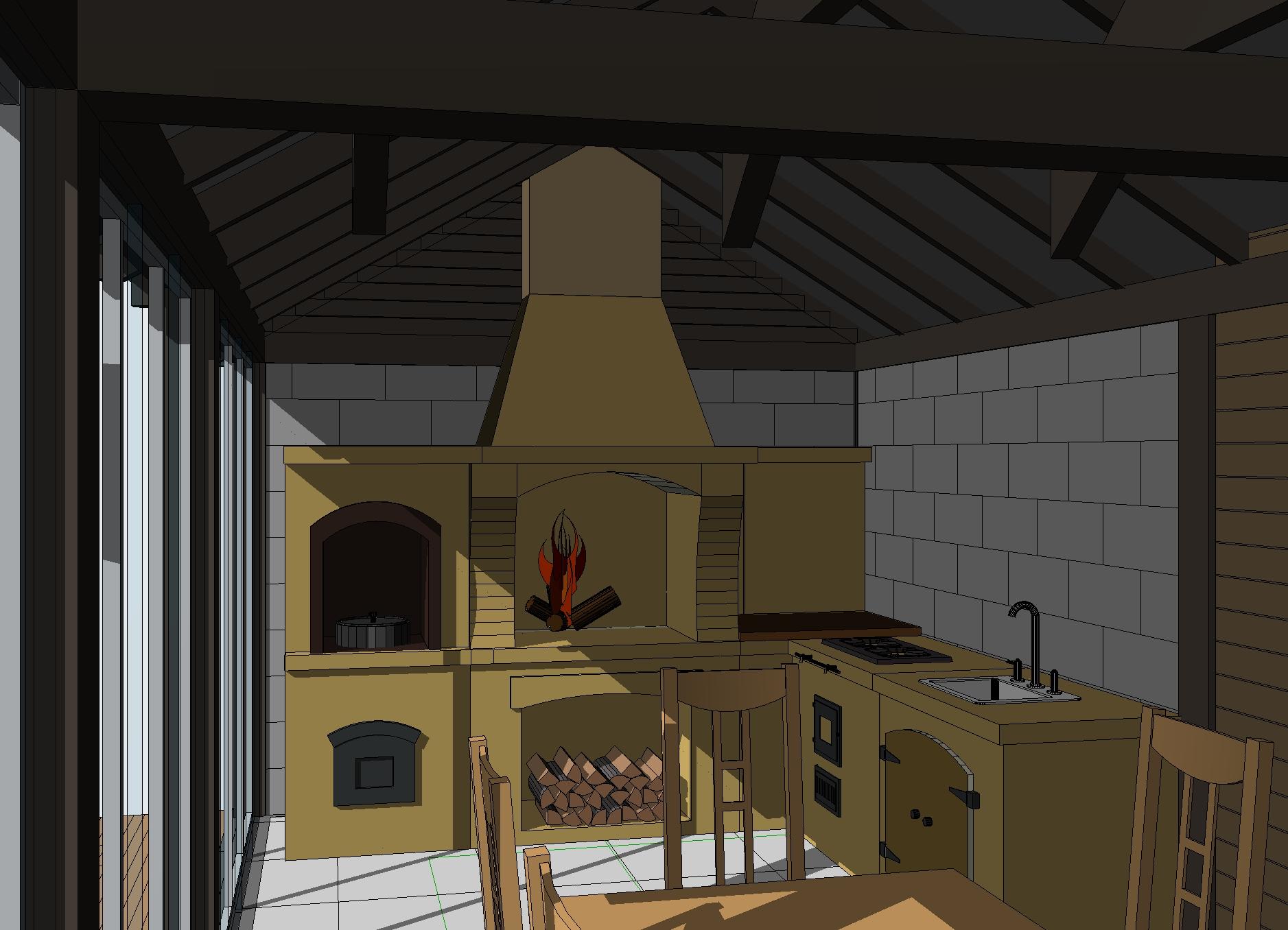 Летняя кухня план