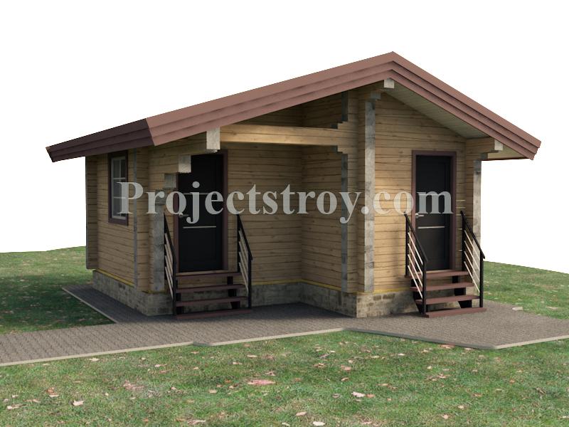 Проект бани - садового домика - хоз. постройка  фасад