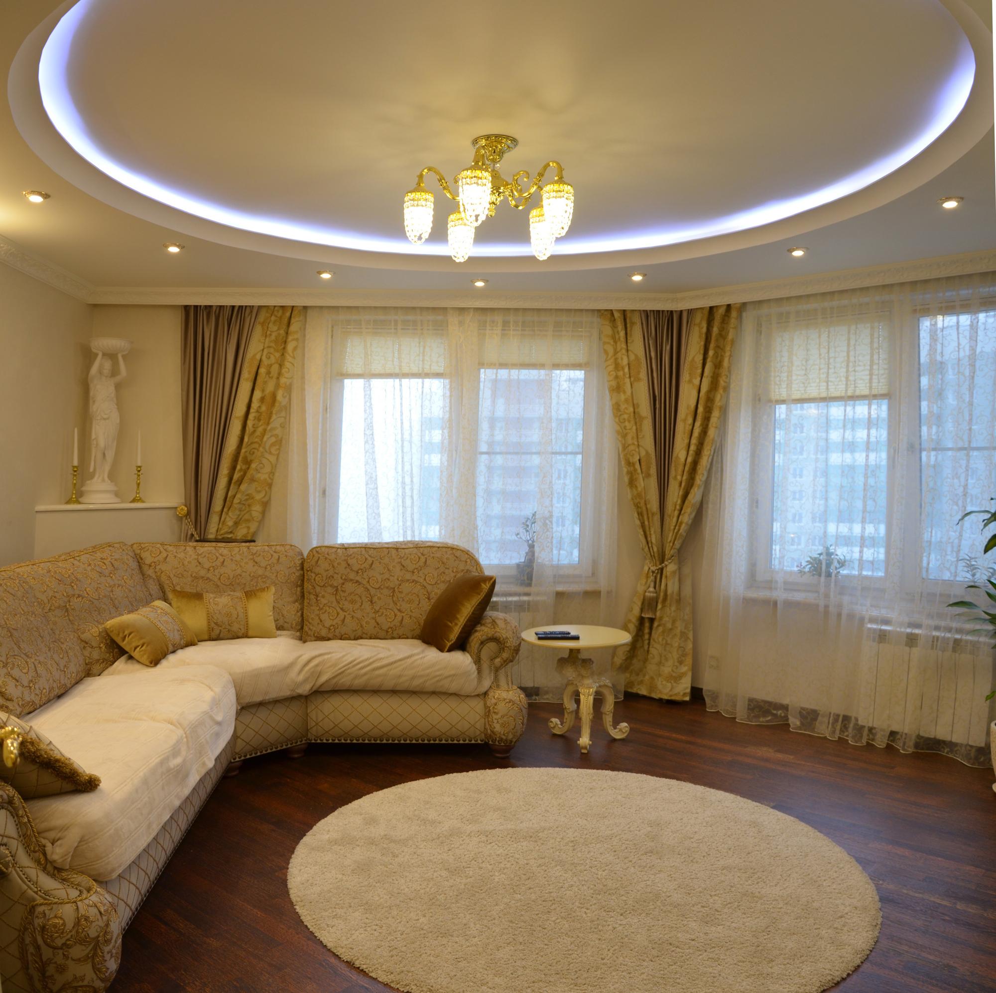 Дизайн трехкомнатной квартиры 100 кв.м