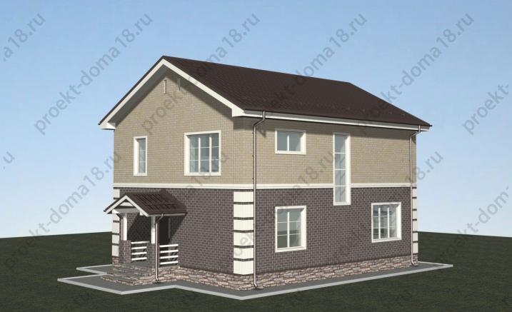 Проект дома 9х11 площадью 150 кв.м. фасад