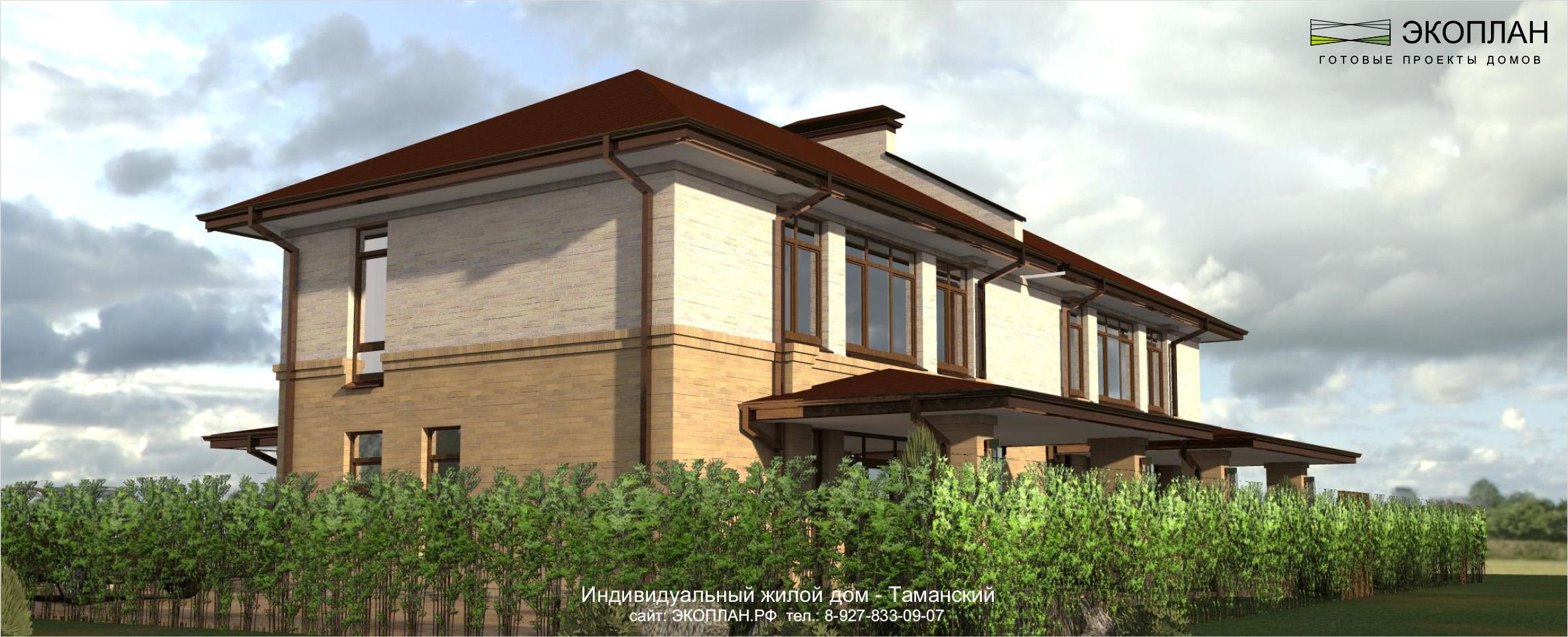 Дом на две семьи фасад