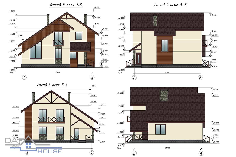 Проект В1054 фасад