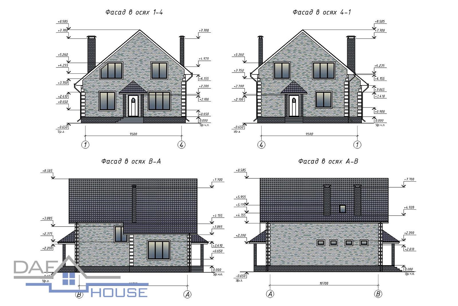 Проект В0384 фасад