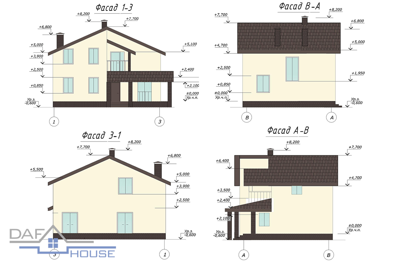 Проект В1413 фасад