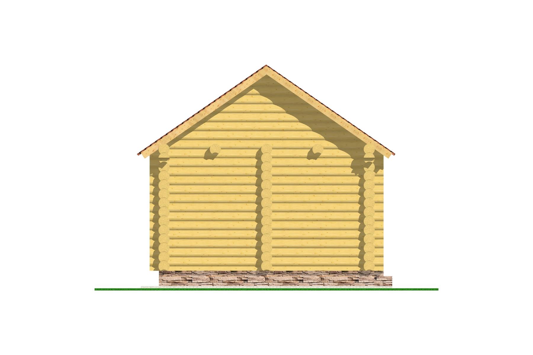 """Баня """"Уют"""" фасад"""