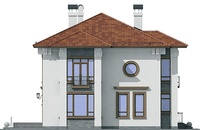 Проект кирпичного дома 37-09 фасад