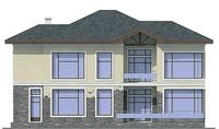 Проект кирпичного дома 37-29 фасад
