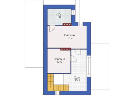 Проект кирпичного дома 37-39 план