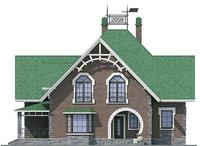 Проект кирпичного дома 37-42 фасад