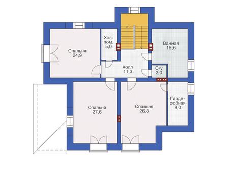Проект кирпичного дома 37-42 план