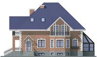Проект кирпичного дома 37-56 фасад