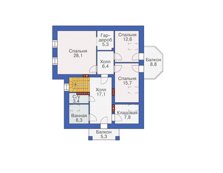 Проект кирпичного дома 37-56 план