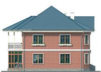 Проект кирпичного дома 37-66 фасад