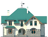 Проект кирпичного дома 37-70 фасад