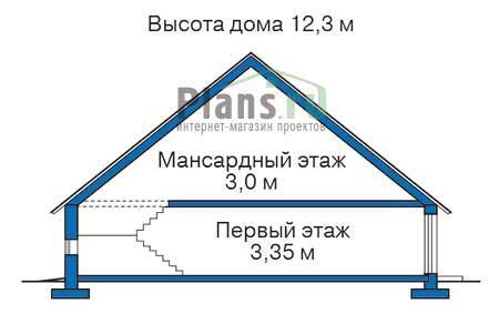 Проект кирпичного дома 37-70 план