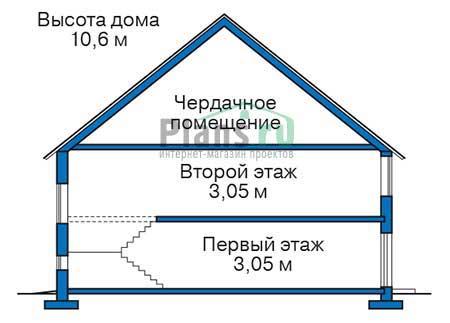 Проект кирпичного дома 37-81 план
