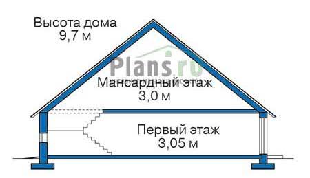 Проект кирпичного дома 37-87 план