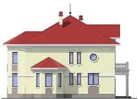 Проект кирпичного дома 38-00 фасад