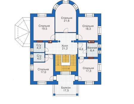 Проект кирпичного дома 38-00 план