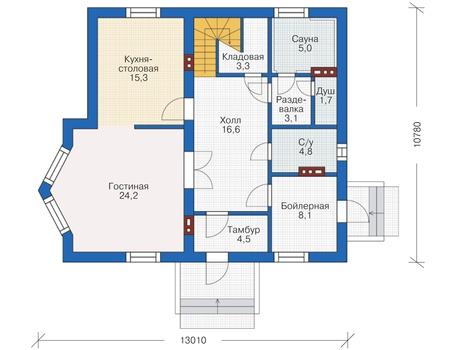 Проект кирпичного дома 38-08 план