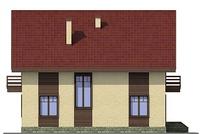 Проект кирпичного дома 38-12 фасад