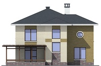 Проект кирпичного дома 38-30 фасад