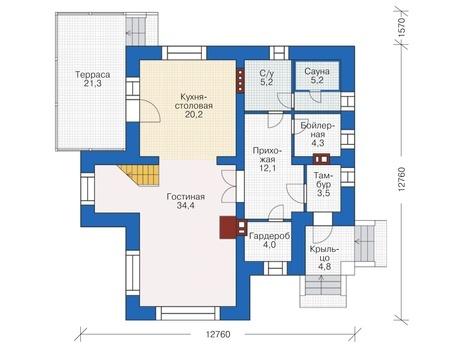 Проект кирпичного дома 38-30 план
