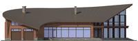 Проект кирпичного дома 38-31 фасад