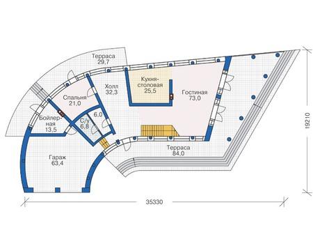 Проект кирпичного дома 38-31 план