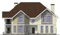 Проект кирпичного дома 38-32 фасад