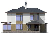 Проект кирпичного дома 38-35 фасад