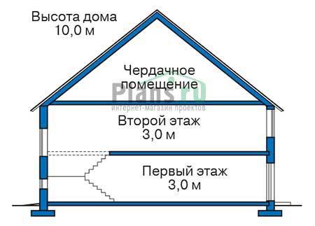 Проект кирпичного дома 38-35 план