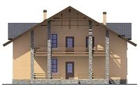 Проект кирпичного дома 38-38 фасад