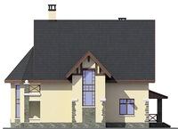 Проект кирпичного дома 38-39 фасад