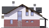 Проект кирпичного дома 38-42 фасад