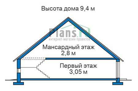 Проект кирпичного дома 38-42 план