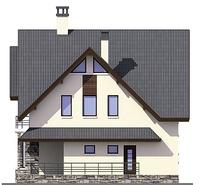 Проект кирпичного дома 38-53 фасад