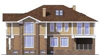 Проект кирпичного дома 38-58 фасад