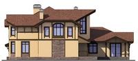 Проект кирпичного дома 38-59 фасад