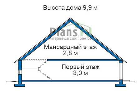 Проект кирпичного дома 38-59 план