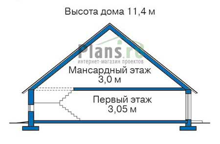 Проект кирпичного дома 38-60 план