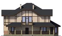 Проект кирпичного дома 38-61 фасад